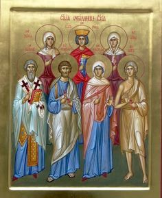 St. Tryphon, St. Anastasia, St. John Persian, St. Mary of Egypt, St. Xenia of Petersburg, St. Katherine the Great, Anna the New Martyr