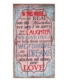 'In This House' Wall Art #zulily #zulilyfinds