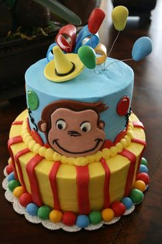 Curious George Birthday Cake Photo