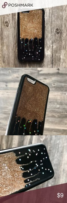 NEW iPhone 6 6s Metallic Gold Glitter Stars Case ▪️BRAND NEW Sealed iPhone 6 6s (regular size) Case  ▪️Soft TPU Material - Thick Shock-Resistant Rubber  ▪️Gold Glitter With Iridescent Stars   ▪️Same or Next Business Day Shipping ! Kerzzil Accessories Phone Cases