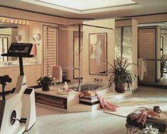 Aus Rodales Home Design Series: Baths – - Neues Zuhause Design Home Design, 80s Interior Design, 1980s Interior, 90s Design, Casas The Sims 4, Outdoor Living, Indoor Outdoor, Art Deco, Retro Home Decor