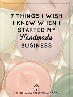 7 Things I Wish I Knew When I Started My Handmade Business // Mei Pak // Creative Hive - Tap the link now to Learn how I made it to 1 million in sales in 5 months with e-commerce! I'll give you the 3 advertising phases I did to make it for FREE! Etsy Business, Craft Business, Home Based Business, Business Tips, Business Planning, Easy Business Ideas, Small Business License, Business Money, Business School