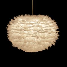 Eos Suspension Feather Lamp by VITA