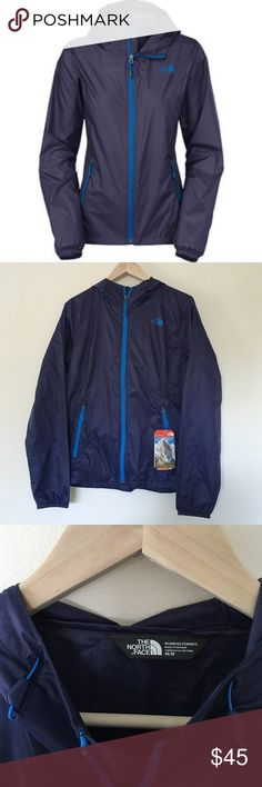 NWT North Face Cyclone Windbreaker in Patriot Blue NWT. No flaws. Never worn. Didn't fit me. Perfect for active wear, on the go, hiking, running, etc. etc. it's super versatile and lightweight. Would keep if it was the right size! Cheaper on Merc. The North Face Jackets & Coats