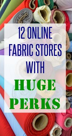 12 Online Fabric Stores with Huge Perks BUY AND SAVE is part of Fabric Crafts For Guys - Buy fabrics online Best online fabric store Apparel fabric stores online Discount fabric online Check out the awesome list now! Sewing Hacks, Sewing Tutorials, Sewing Crafts, Sewing Tips, Sewing Basics, Car Crafts, Basic Sewing, Sewing Ideas, Discount Fabric Online