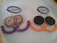 orecchini modello chandelier con capsule nespresso e perle