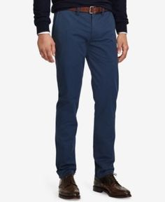 Polo Ralph Lauren Men's Stretch Straight Fit Bedford Chino Pants - Blue Eclipse 34x30