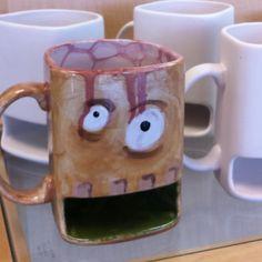 Zombie dunk mug. Are those bubble-brains I see on the inside? Awesome!