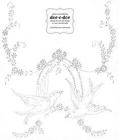 Free Printable Embroidery Patterns | Thursday, October 21, 2010