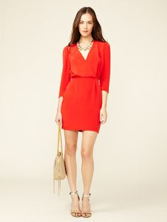 the color is gorgeous! Karolina Pleated Silk Dress by Rebecca Minkoff on Gilt.com