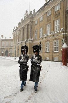 Amalienborg Palace, the winter home of the Danish royal family, Denmark