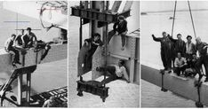 NZ Men With Balls of Steel: Incredible Photos of Construction Workers on the Auckland Harbour Bridge in the Carolyn Bessette Kennedy, Kennedy Jr, Hanover Street, Looks Vintage, Vintage Dog, Harbor Bridge, The Great Fire, Sunday School Teacher, Chicago River