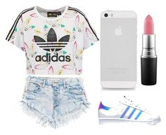"""""""This is designed for one of my best friends Rita ❤️"""" by emilyharwoodx on Polyvore featuring adidas Originals, adidas and MAC Cosmetics"""