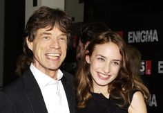 Mick Jagger with his 25-year-old daughter Elizabeth, who has taken after her mother Jerry Hall in becoming a model. She once appeared in a Tommy Hilfiger campaign campaign alongside Theodora Richards, daughter of Rolling Stones guitarist Keith. Pic: PA Photos