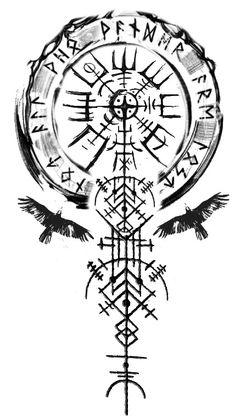 Arm Tattoos Drawing, Hand Tattoos, Tattoo Design Drawings, Cover Up Tattoos, Forearm Tattoos, Body Art Tattoos, Sleeve Tattoos, Viking Compass Tattoo, Viking Rune Tattoo