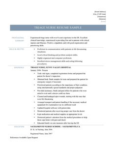 Er Nurse Resume Example  Resume Examples Registered Nurse Resume