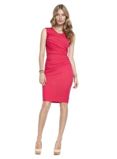 Stand out in this figure-skimming jersey dress. Created with asymmetric pleat detailing across the front and back, it flatters the figure for instant confidence. Choose this style in Caviar Black and make it your fail-safe LBD or go for a vibrant splash of colour and choose Pink Rose.