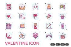 Valentine Doodle, Valentine Heart, Happy Valentines Day, All Icon, Icon Set, Icon Icon, School Icon, Envato Elements, Heart Outline