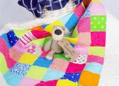 Baby Quilt, Baby Girl Blanket, Traditional Quilt, Crib Quilt | Homemade quilts and keepsake baby blankets at AngiesPatch
