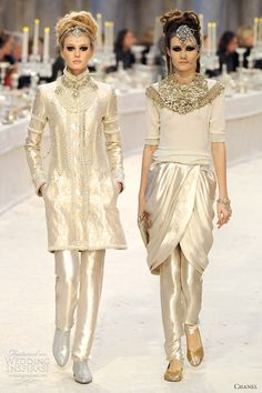 Fall Snow. Chanel 2012  Obsessed with the facial piece-Chanel never fails to incorporate Egyptian fashions which is a uniquiness I have loved since I was12