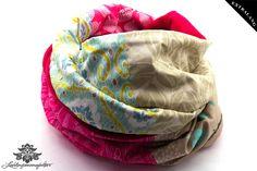Patchwork-Schal pink beige ... kuschelig warm von #Lieblingsmanufaktur auf DaWanda.com