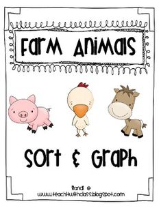 Sort the different farm animals and graph how many on the recording sheet. I find that having something tangible to graph helps with understanding....