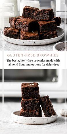 Hot Chocolate Brownies, Dairy Free Chocolate Chips, Vegetarian Chocolate, Chocolate Desserts, Gluten Free Desserts, Dessert Recipes, Dairy Free Brownies, Brownie Bar, Brownie Recipes