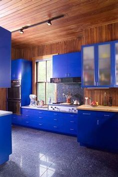 Diseño de cocinas azules