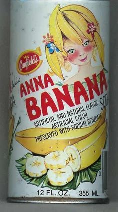 Canfield's Anna Banana vintage soft drink Vintage Soft, Vintage Tins, Vintage Postcards, Vintage Candy, Retro Recipes, Vintage Recipes, Cocktails, Drinks, Green Jello