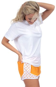 Taking our shorties to a whole new comfort level! Introducing the Lovely State jersey shorties by Lauren James! Rep your favorite state and stay comfy while doing it! Model is wearing a SMALL! (Jersey