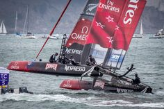 """America's Cup Sail Boats """"Catching Wind"""" - San Francisco, California - Photo"""