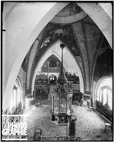 1900 World Fair in Paris. Interior of the Finnish pavilion. Paris, 1900.