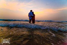 Sunset pre wedding photo shoot at Goa in simple beach casuals