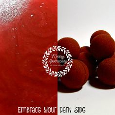 Red Bath Bombs  Cannonballs  Mini Bath Bombs  Blood Red Bath Water  Cherry Almond Scent  Goth Bath Bomb  Blood Red Bath Bomb by MerryApothecary