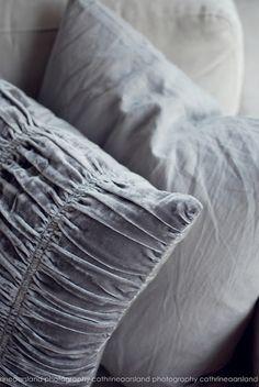 Beautiful grey throw pillows <3