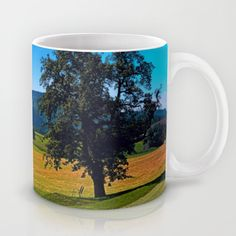 A tree with no name and two chairs Coffee Mug by patrickjobst No Name, Ceramic Mugs, Coffee Mugs, Custom Design, Chairs, Tableware, Pottery Mugs, Dinnerware, Ceramic Cups