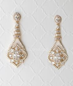 CZ Bridal Jewelry Earrings with Antique Flair - Beautifully styled with vintage. - CZ Bridal Jewelry Earrings with Antique Flair – Beautifully styled with vintage flair, these bri - Prom Jewelry, Bridal Jewelry Sets, Bridal Accessories, Gemstone Jewelry, Wedding Jewelry, Fine Jewelry, Vintage Wedding Earrings, Bridal Jewelry Vintage, Bohemian Wedding Jewellery