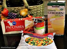easy chicken pot pie recipe 5 simple ingredients by AttaGirlSays.com
