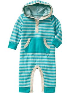 Old Navy | Striped Hooded One-Pieces for Baby