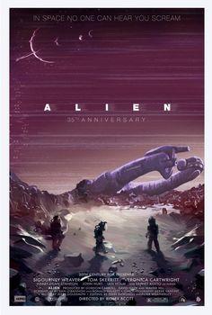 Alien 35th Anniversary poster by Scott Hopko