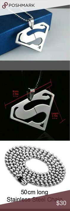 Coming soon Men superman necklace sliver New just came in new item superman necklaces Accessories Jewelry