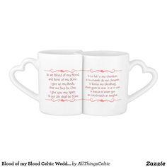 Blood of my Blood Celtic Wedding Lovers' Mug Couples' Coffee Mug Set