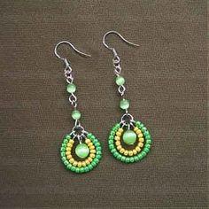 How to make seed bead earrings -4 step making seed bead earrings �C Nbeadnbeads Cnbeadnbe               ads by Ada123
