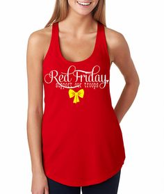 Red Friday Terry Tank. Remember everyone deployed. Support Our Troops. at ease designs usmc navy army usaf uscg clothing on Etsy, $21.00
