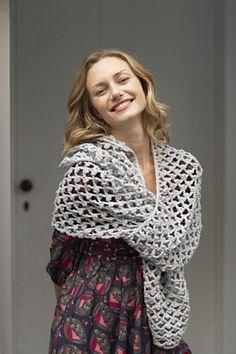 Ravelry: Shimmer Mesh Scarf pattern by Lion Brand Yarn