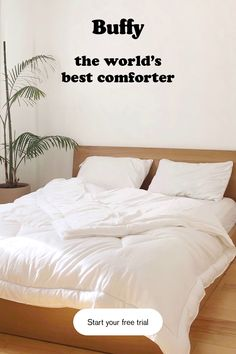 Meet the Buffy comforter, made from natural eucalyptus for year round warmth. Try Buffy free for 30 nights, on us! This page has some very useful information about home design and decor. Dream Bedroom, Home Bedroom, Master Bedroom, Bedroom Decor, My New Room, My Room, Diy Home, Home Decor, Shabby Chic Bedrooms
