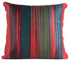 Image of Striped Pillow (Red, No. 3) Dana McClure