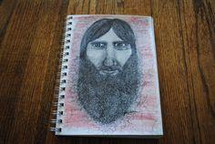 Original illustration of Grigori Rasputin by Jill petersen