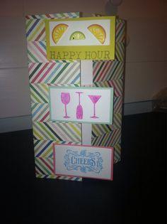 Festive Happy Hour Happy Birthday Card by KellyLikesToKraft