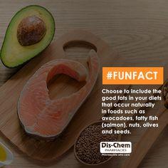 Health Fatty Fish, Good Fats, Cantaloupe, Fun Facts, Salmon, Avocado, Seeds, Good Things, Diet
